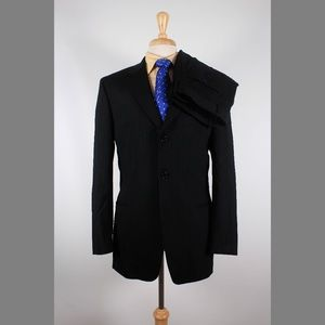 Hugo Boss 40R 34x31 Pleated Suit B622